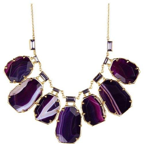 Kate Spade New York - Set In Stone Short Necklace (Purple Multi) - Jewelry