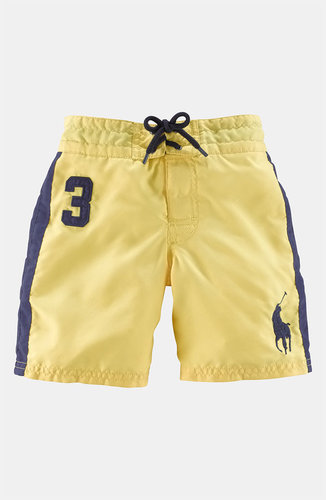 Ralph Lauren Woven Cotton Swim Trunks (Toddler)