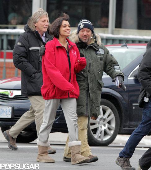 Rosario Dawson was in Niagara Falls to film scenes for her new movie Queen of the Night on Tuesday.