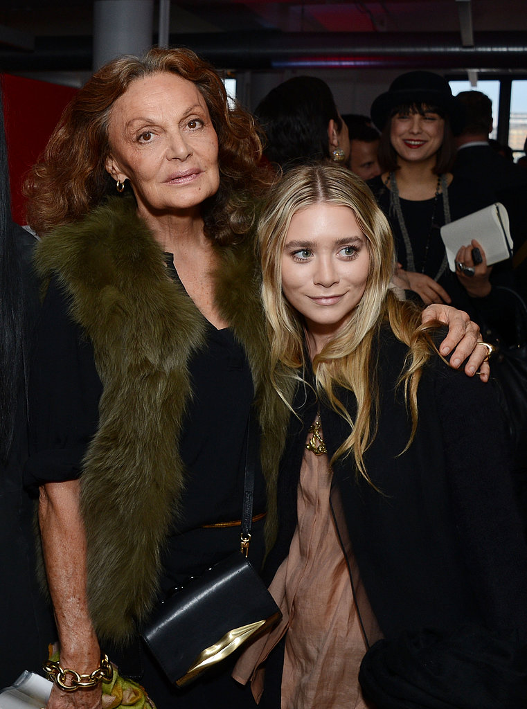 Diane Von Furstenberg chatted with Mary-Kate Olsen.