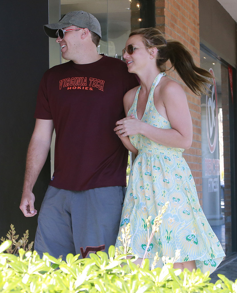 Britney Sports a Sundress For an Outing With Her Rumored New Beau and Boys