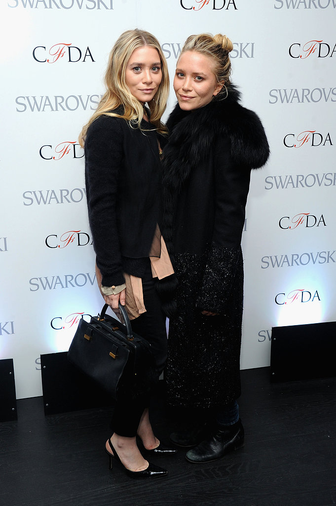 Mary-Kate and Ashley Olsen attended the CFDA 2013 Nominations event yesterday.