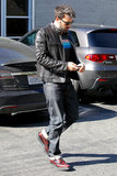 Ben Affleck left a meeting in Santa Monica.
