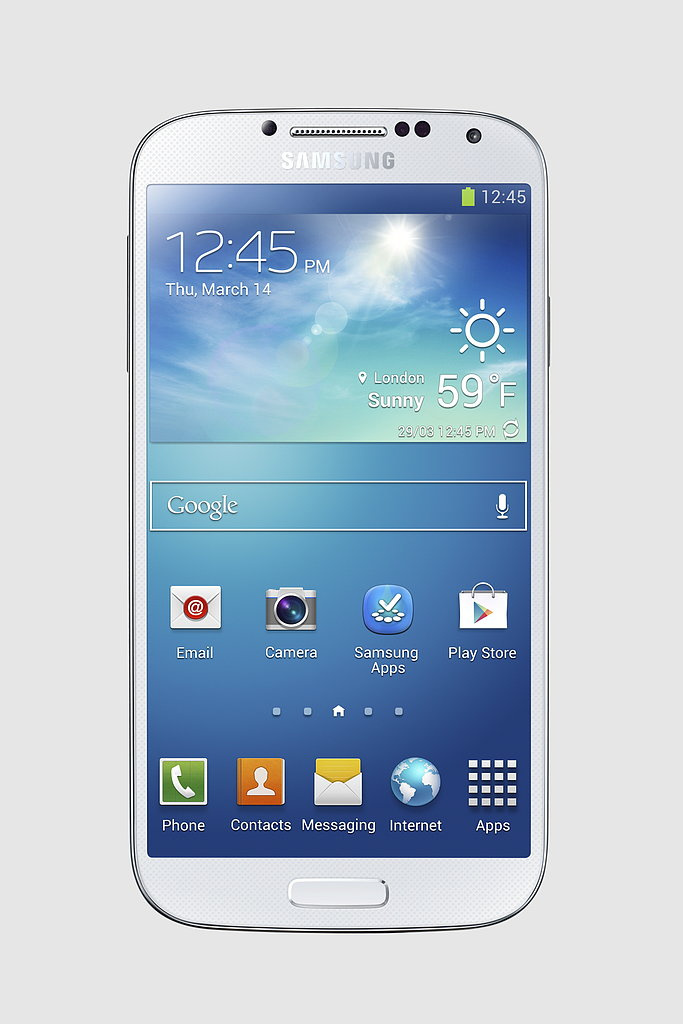 The Samsung Galaxy S4 will be available in White Frost.