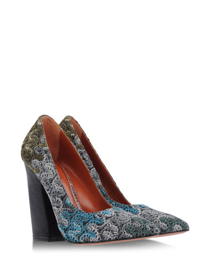 We love the chunky sole and print on Missoni's closed-toe pumps ($204, originally $680).