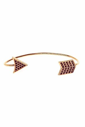 House of Harlow 1960 Antiqued Arrow Wrap Earring in Rose Gold