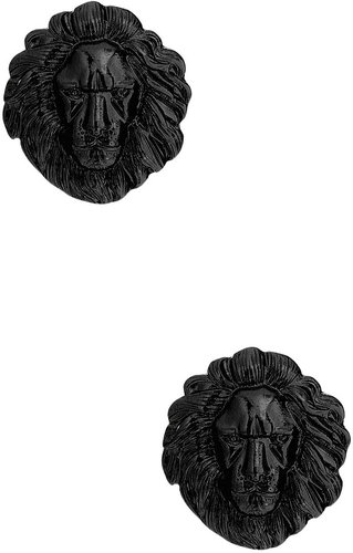 Lions Head Post Earrings