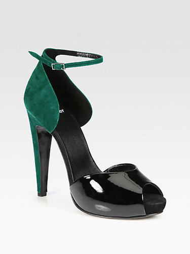 Pierre Hardy Colorblock Suede and Patent Leather d&#039;Orsay Pumps