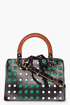 MARNI EDITION Black Perforated Tote