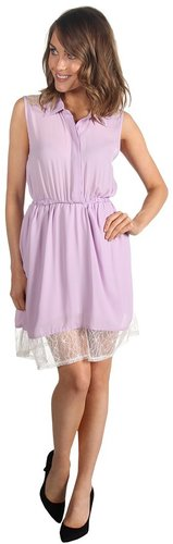 Gabriella Rocha - Zoey Button Up Lace Dress (Purple) - Apparel