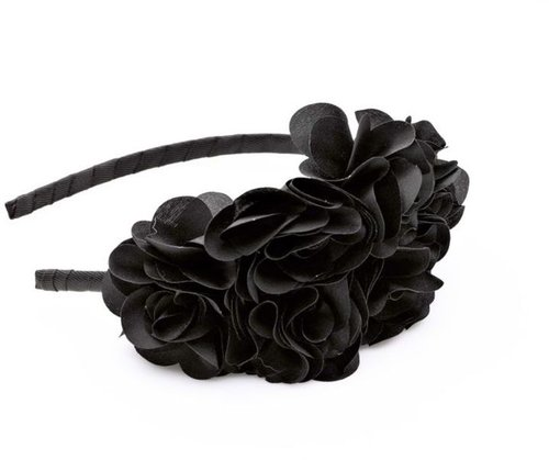 Karina Large Black Side Flower Headband