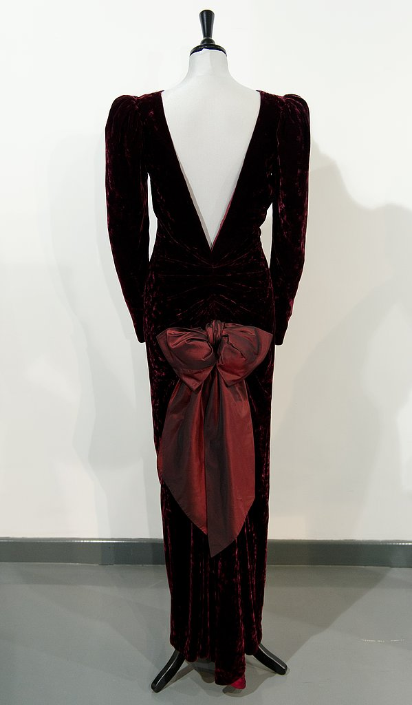 A Catherine Walker dress worn during a state visit to Australia in 1985.  Estimated price: £40,000 ($60,404) to £50,000 ($75,505)