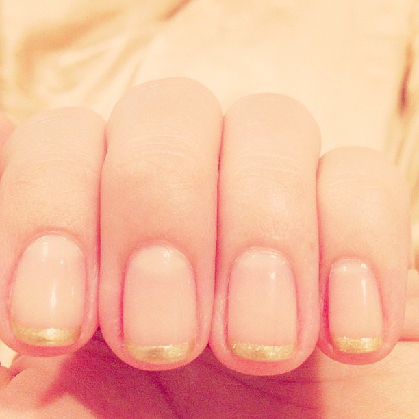 A gilded manicure tickled Lauren Conrad's fancy this week. Source: Instagram user laurenconrad