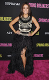 Vanessa Hudgens went for a feather look.