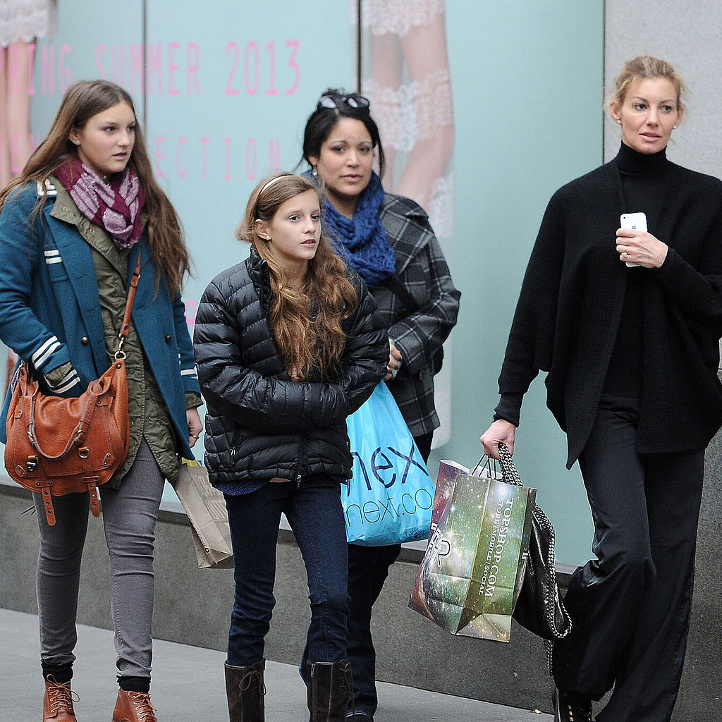 Faith hill shopping with her kids in london popsugar for How old are tim mcgraw and faith hill s kids