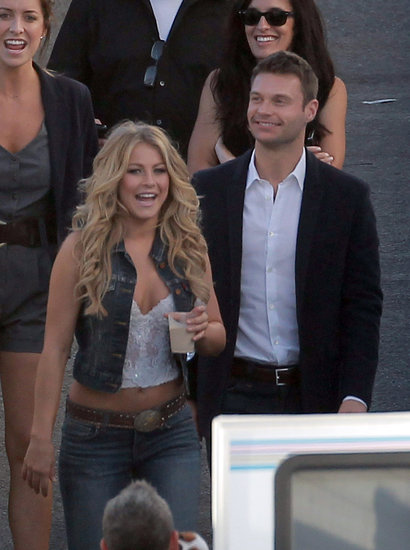 Ryan Seacrest visited Julianne Hough on the LA set of Dancing With the Stars in October 2011.