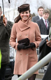 Kate Middleton attended the Cheltenham Festival in England.