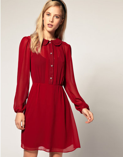 ASOS Special Button Chiffon Dress