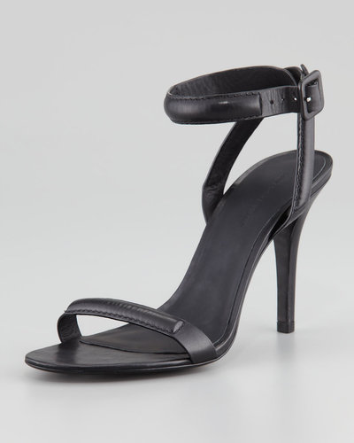 Alexander Wang Antonia Leather Ankle-Wrap Sandal