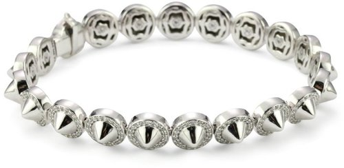 Nicky Hilton Sterling Silver Spike Tennis Bracelet With Cubic Zirconia