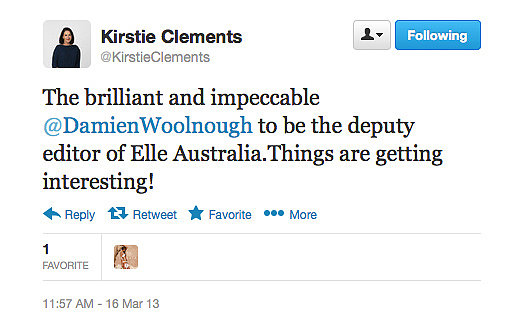 Kirstie Clements, former editor of Vogue, is please with the latest recruit for the soon-to-be-launched Elle Australia.