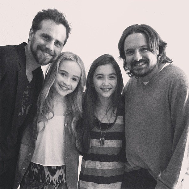 The new girls posed with veterans of the Boy Meets World universe. Source: Instagram user rowanblanchard