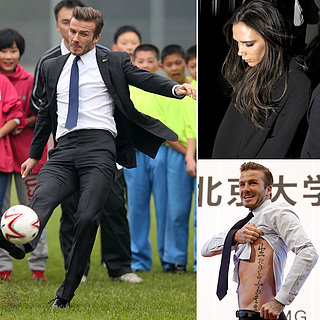 David Beckham Falls Playing Soccer in China | Picture
