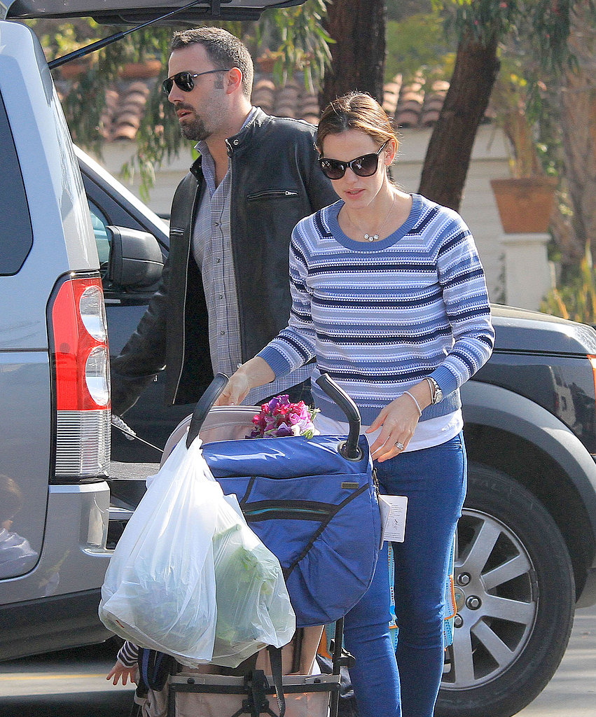 Jen and Ben Make a Market Stop With the Kids Following a PDA-Filled Outing