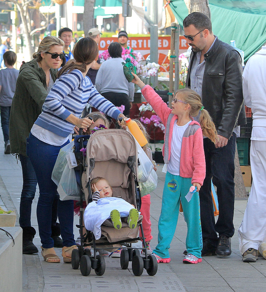 The family (minus Sera) made a stop at one of their favorite haunts, the Brentwood farmers market, in LA this Spring.