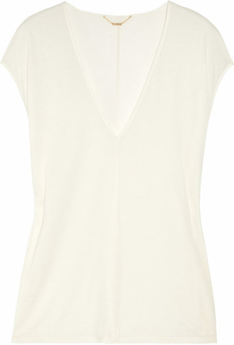 The Row Festly modal and silk-blend top