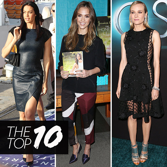 Top Ten Best Dressed of the Week: Megan Gale, Jessica Alba, Diane Kruger & More
