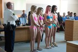 Ashley Benson, Vanessa Hudgens, Rachel Korine, and Selena Gomez in Spring Breakers