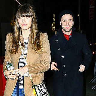 Justin Timberlake and Jessica Biel at Book of Mormon Photos