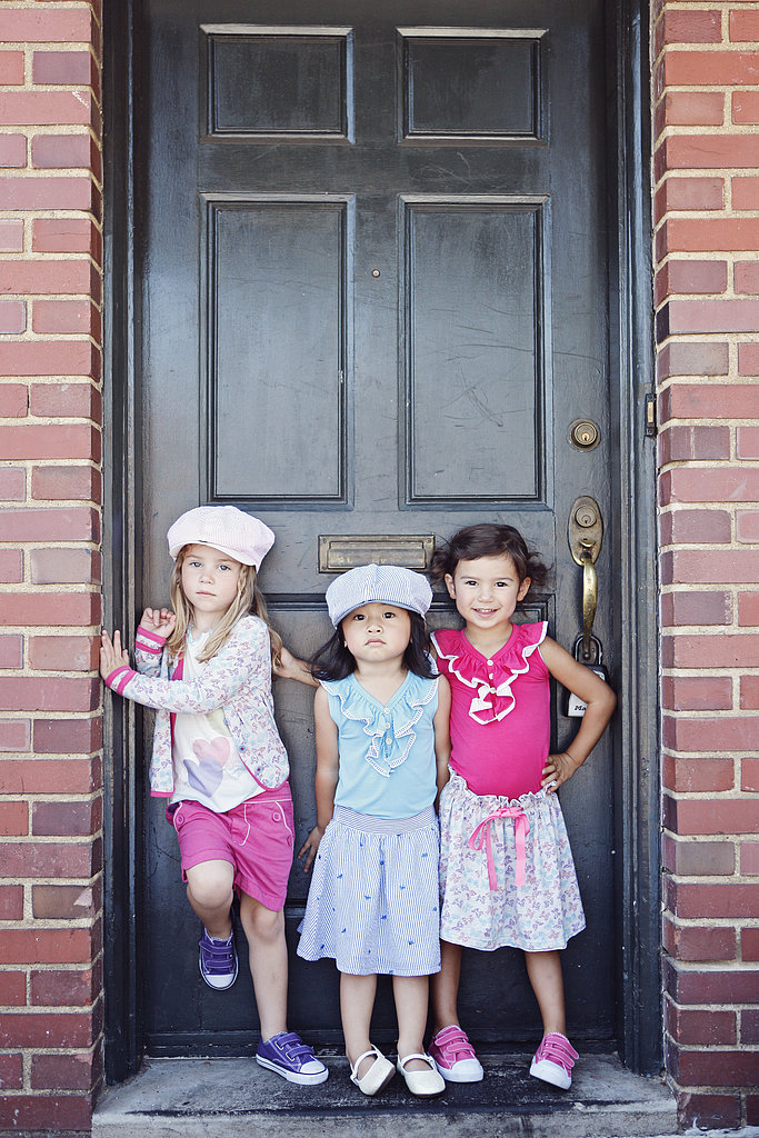 From left: Look one:  Seersucker Hat ($28), Sublimated Top ($46) Look two: Seersucker Hat ($28), Ruffle Seersucker Tank ($44), Embroidered Seersucker Skirt ($48) Look three: Seersucker Tank ($44)