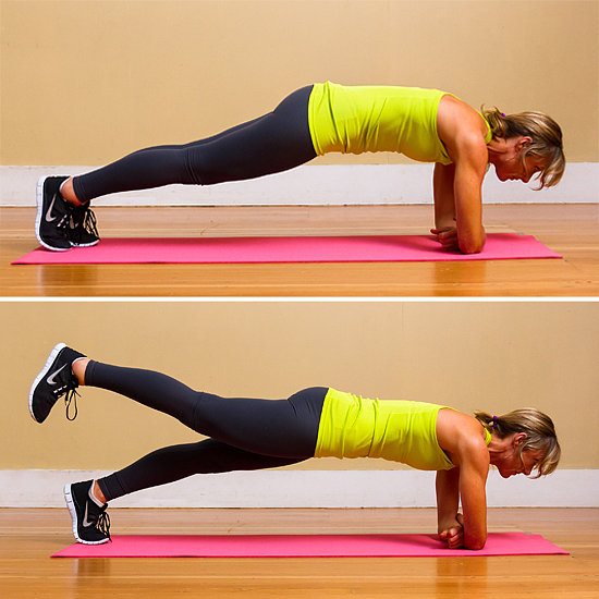 Circuit Two: Elbow Plank With Leg Lift