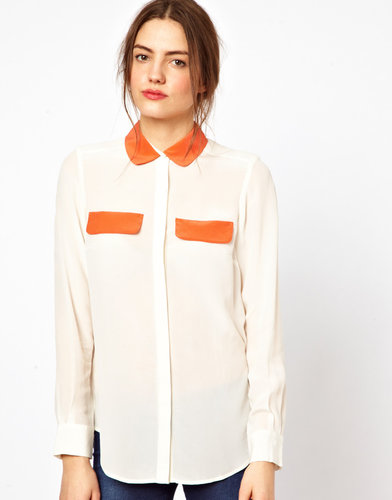 French Connection Sarah Silk Classic Shirt