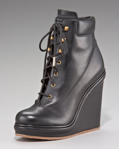 MARC by Marc Jacobs Lace-Up Wedge Ankle Boot