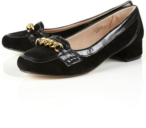 JIGSAW Chain Suede Heeled Loafers