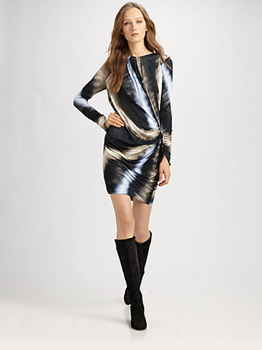 Peter Pilotto Long-Sleeved Silk Dress