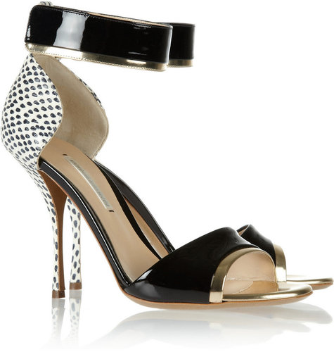 Nicholas Kirkwood Elaphe, metallic and patent-leather sandals