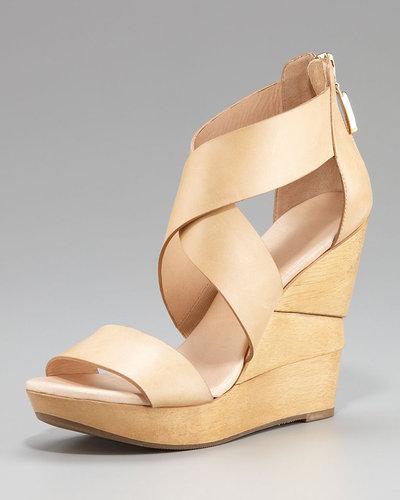 Diane von Furstenberg Opal Vachetta Wedge Sandal
