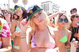 Ashley Benson, Selena Gomez, and Vanessa Hudgens in Spring Breakers