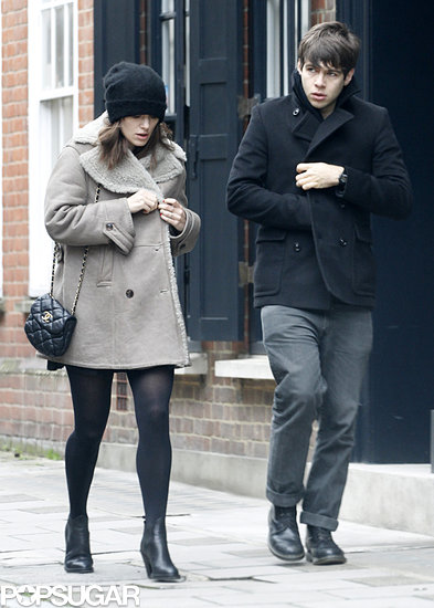 Keira Knightley took a stroll with fiancé James Righton in London.