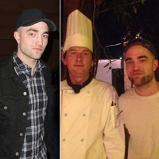 Robert Pattinson Wraps Up Work Down Under With a Shaved Head
