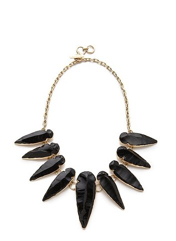 Wear Charles Albert's Obsidian Arrowhead Necklace ($135, originally $270) with a crisp white top and pencil skirt for a refreshing twist on your 9-to-5 style.