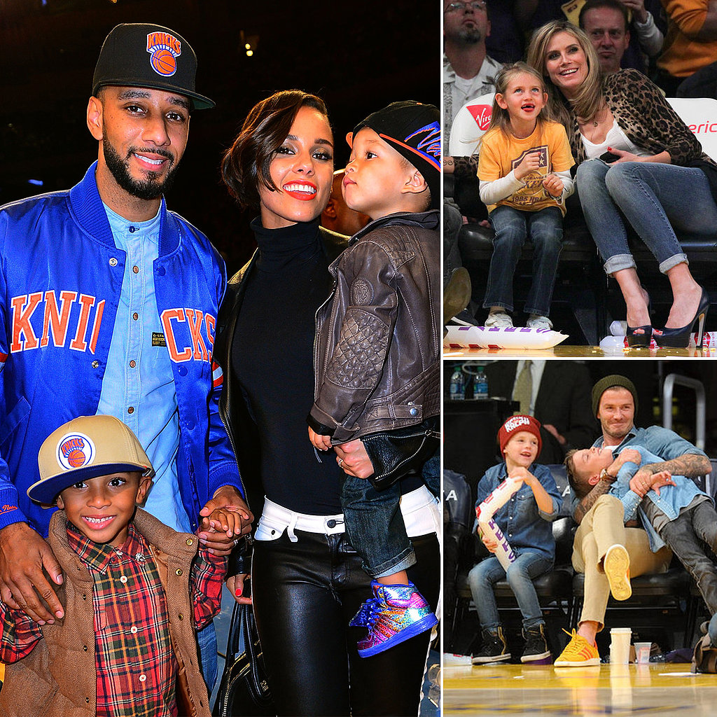 Courtside Cuties: Celebrity Kids at Basketball Games