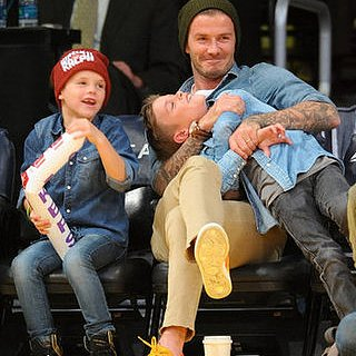 Celebrity Kids at Basketball Games