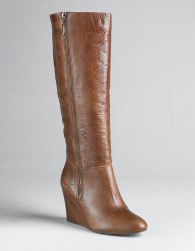 STEVEN BY STEVE MADDEN Meteour Leather Wedge Boots