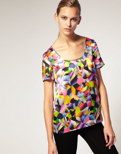 Josh Goot for ASOS Printed Silk T Shirt