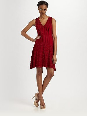 Soprano Ruffled Jersey Dress